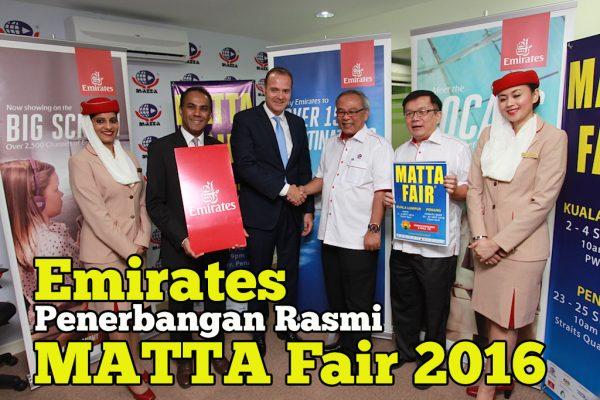 Emirates Syarikat Penerbangan Rasmi untuk MATTA Fair 2016
